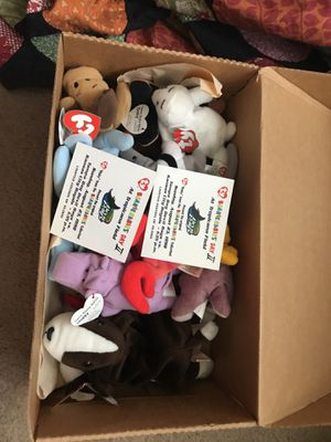 Full box of beanie babies & limited edition tickets for Sale in Frederick, MD