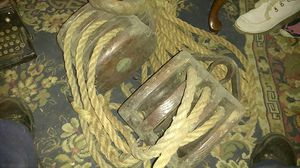 Vintage wood pulley system for skylining loggs for Sale in Buckley, WA