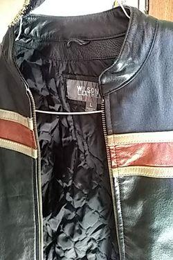 Boys large Wilson leather biker jacket Thumbnail