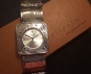 RETIRED SILPADA Hammered Sterling Silver Square LinkWatch for Sale in Frederick, MD