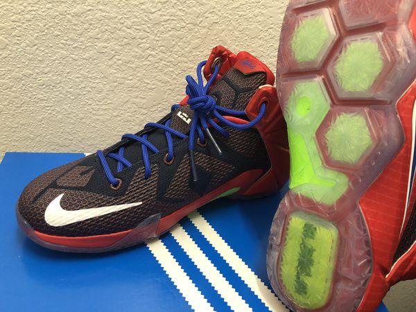 Nike Lebron Xii 12 Sg Superman Basketball Azul Zapatos Sz 7Y Rojo Azul Basketball Blanco bdf1c6