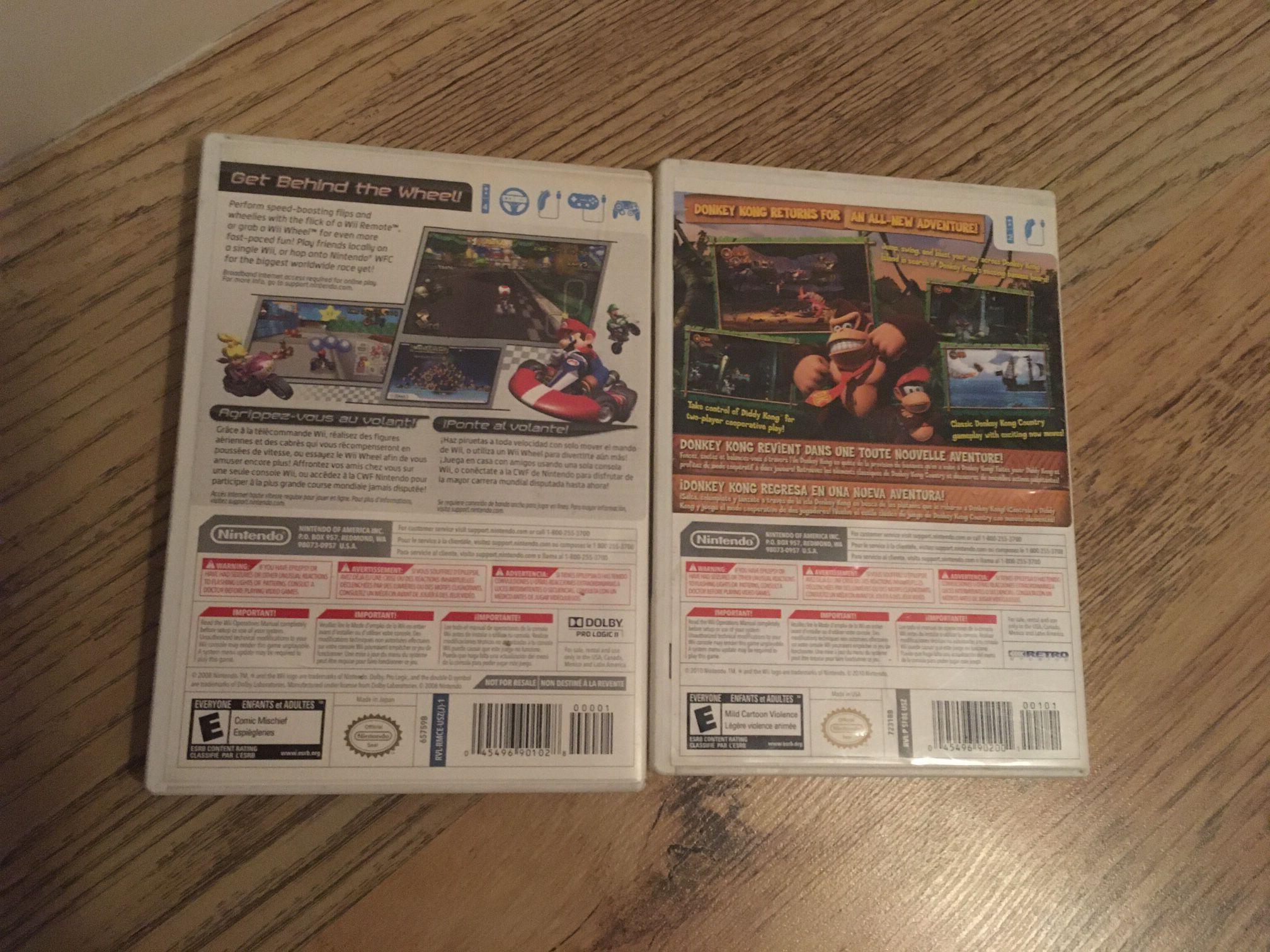 Mariokart And Donkey Kong Country Returns