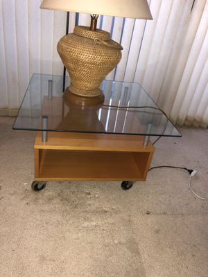 IKEA Glass top coffee table for Sale in Washington, DC
