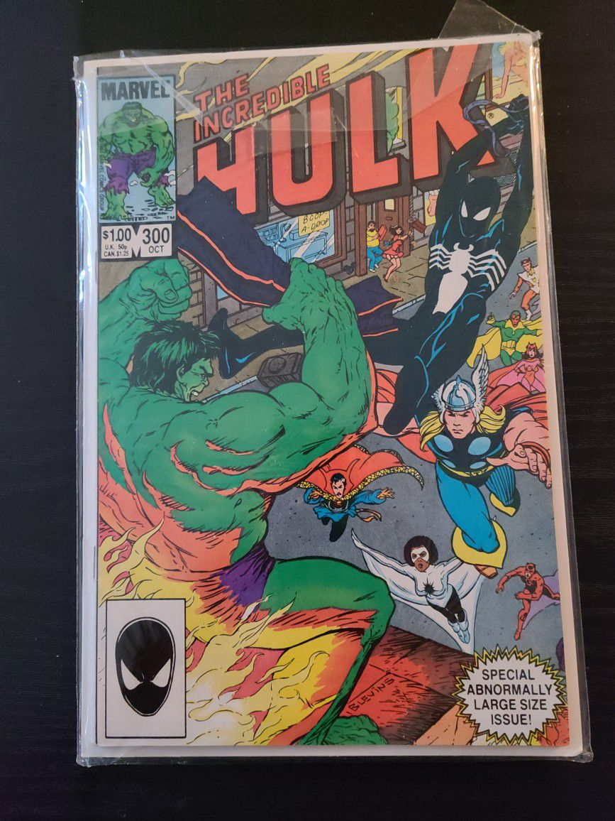 Vtg Marvel The Incredible Hulk #300 Comic Book October 1984 Large Size Issue