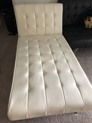 White futon sofa for Sale in Springfield, VA
