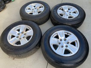 "Photo (4) 17"" Chevy Wheels + 265/65R17 Goodyear Duratrac Tires - $525"
