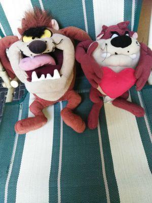 2 Tasmanian Devil stuffed animal 6.00 both for Sale in Bakersfield, CA