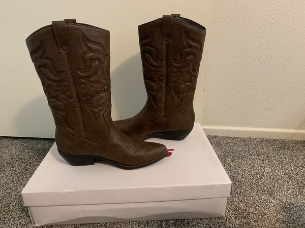 38a4bf12b7a Soda Women's Reno Western Cowboy Pointed Toe Knee High Pull On Tabs Boots  for Sale in Mentone, CA - OfferUp