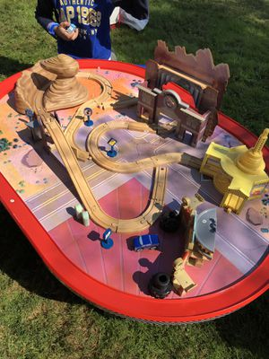 KidKraft Disney Cars Radiator Springs Race Track Set and Table for Sale in Centreville, VA