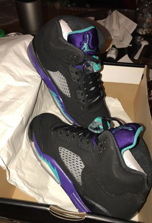 the latest cec42 eb6b3 ... coupon air jordan 5 retro gs black grape size 4 for sale in san  francisco ca