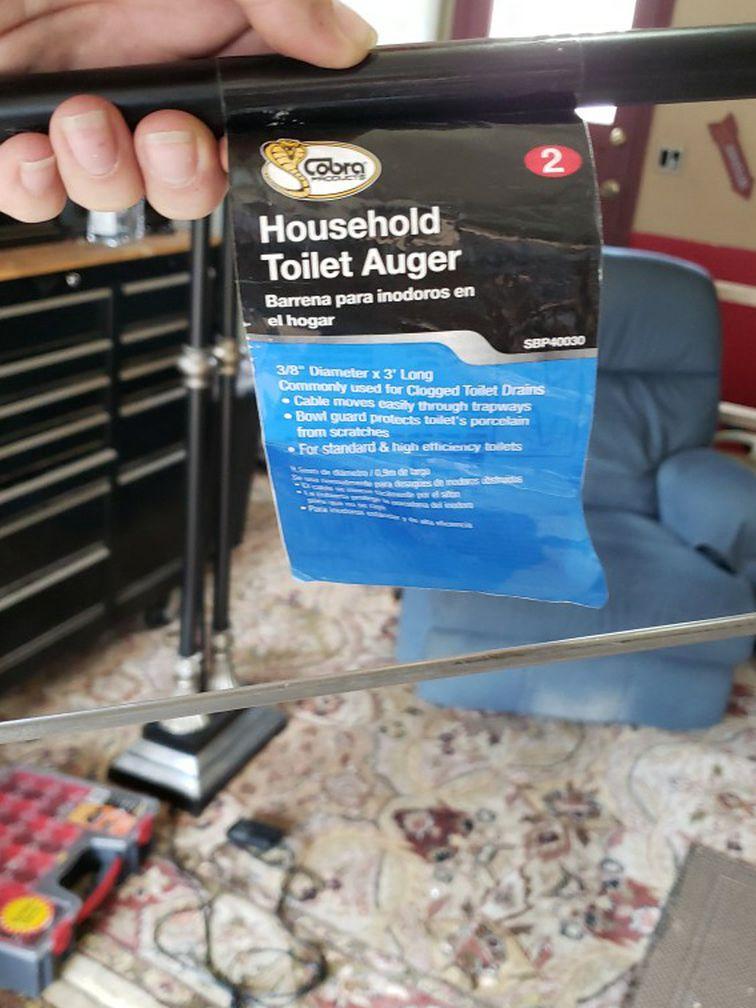3' 3/8 toilet auger