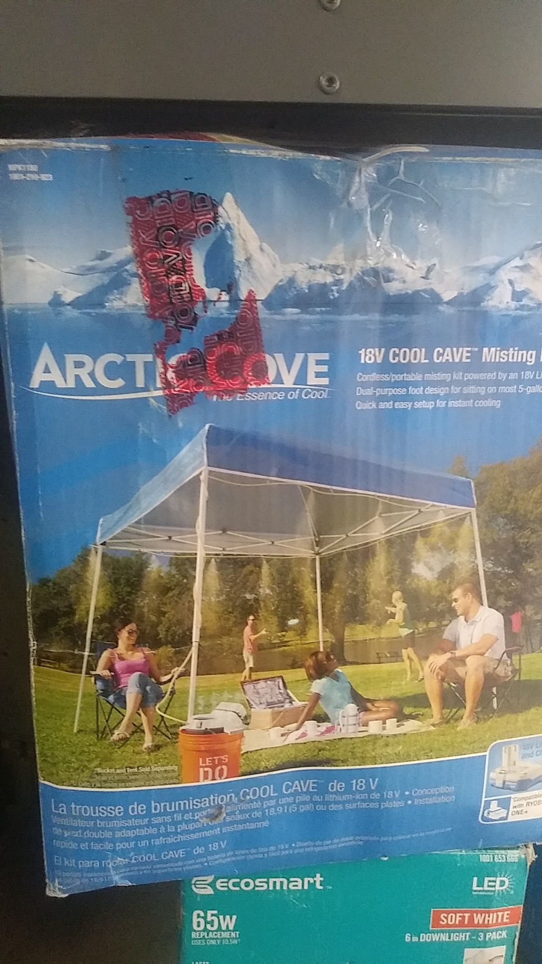 ARCTIC COVE. 18V COOL CAVE MISTING KIT