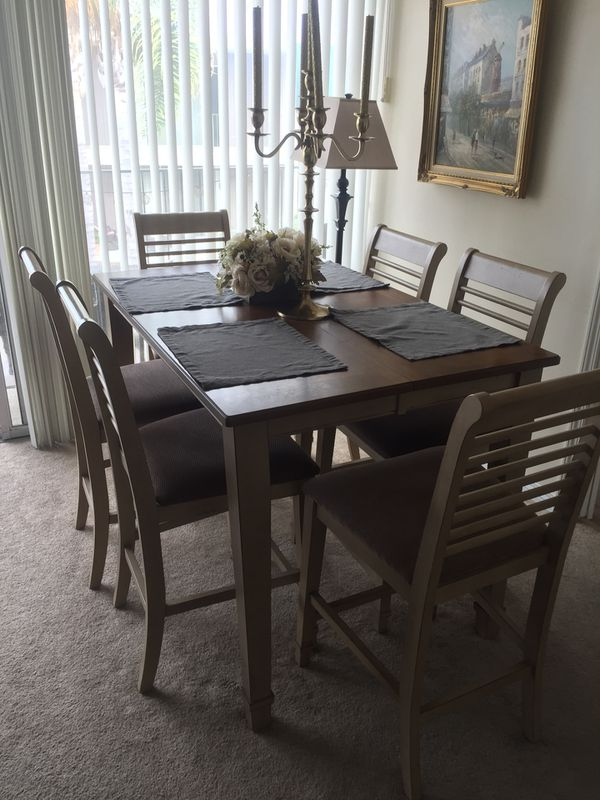Cute Rustic Wood Dining Room Table Set With Chairs And Leaf To Extend