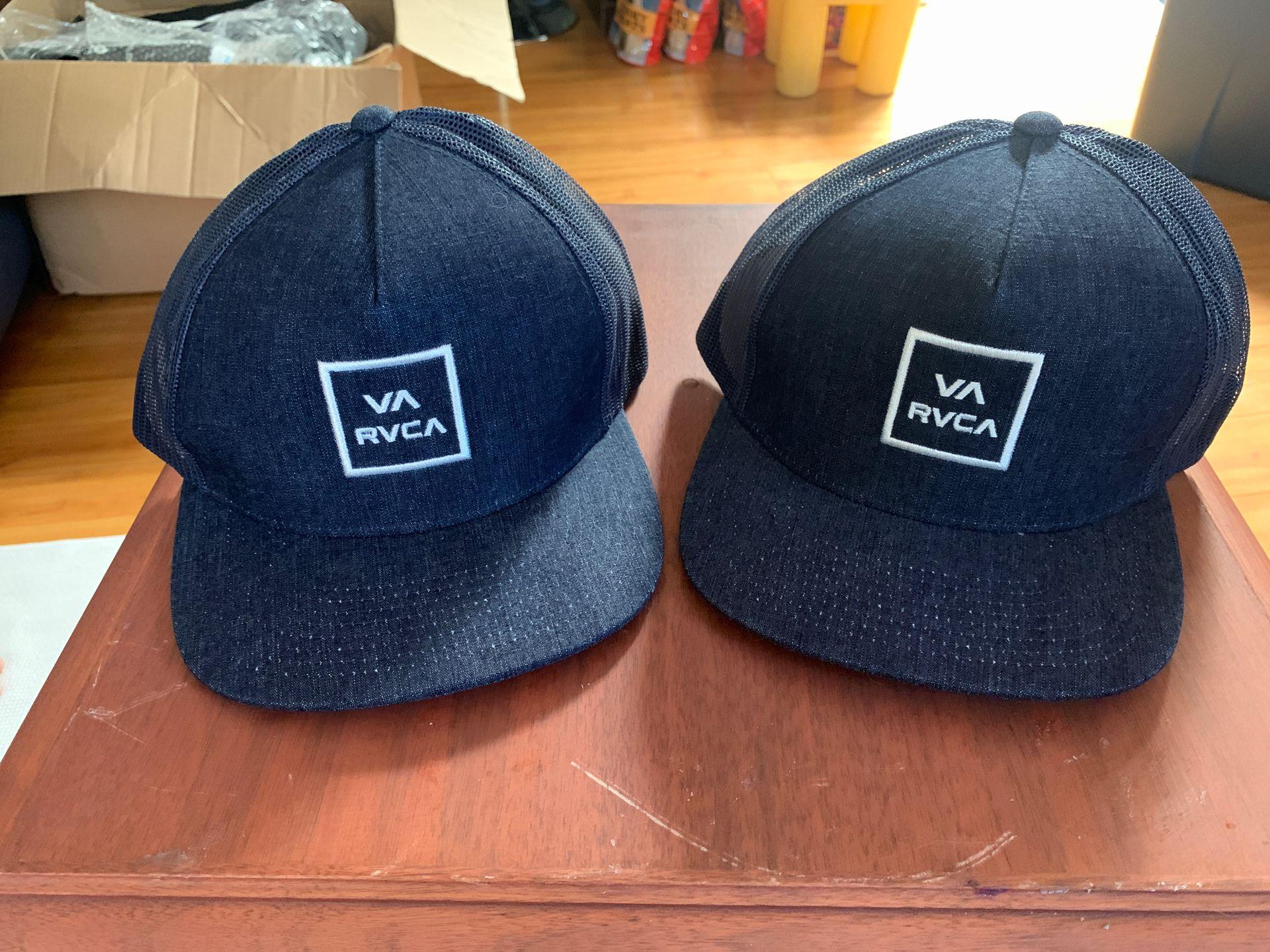 RVCA Navy Blue Caps