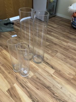 4 glass vases for Sale in Carson, CA