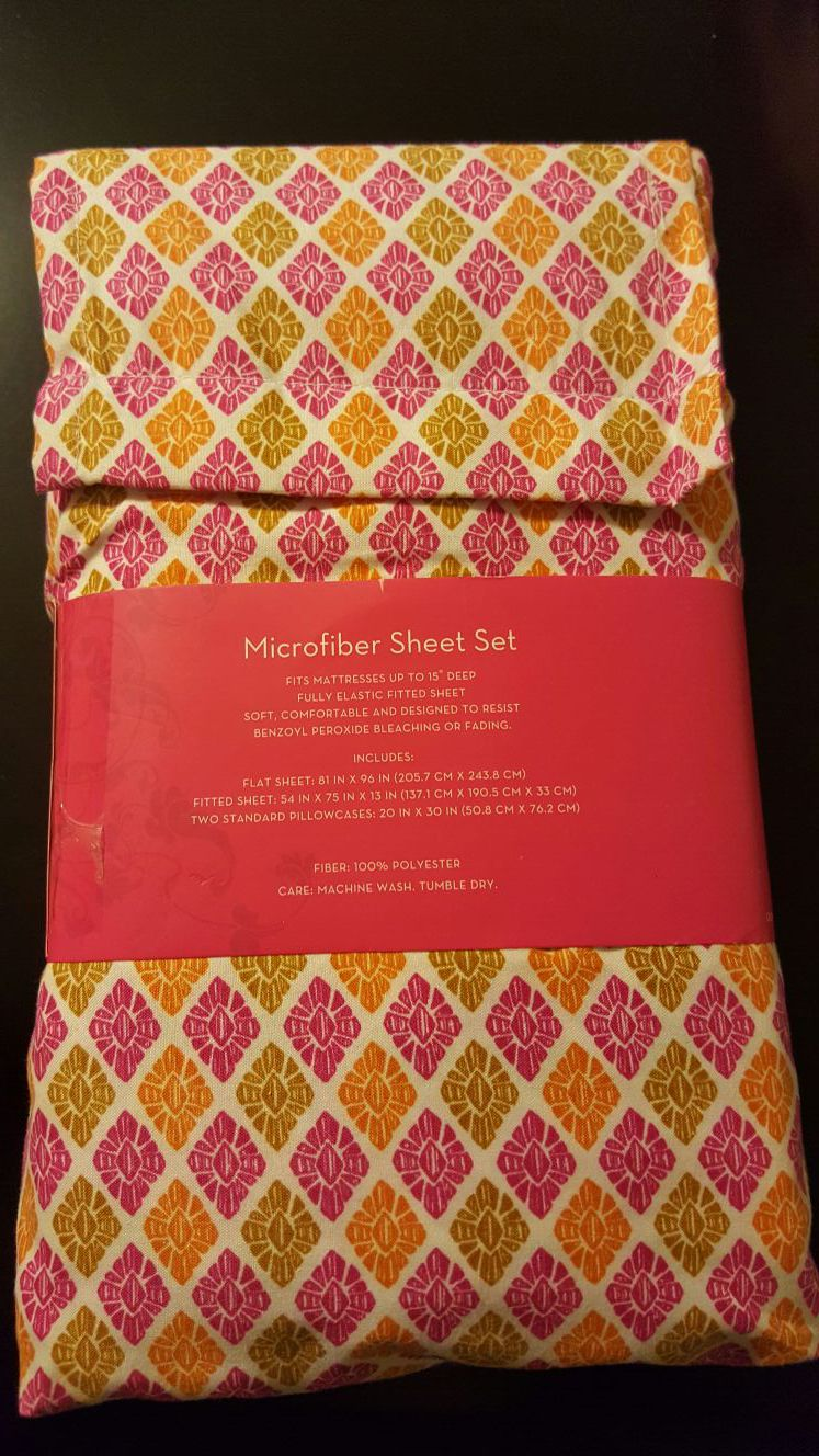 NEW Xhilaration Warm Sheet Set Multicolor -FULL