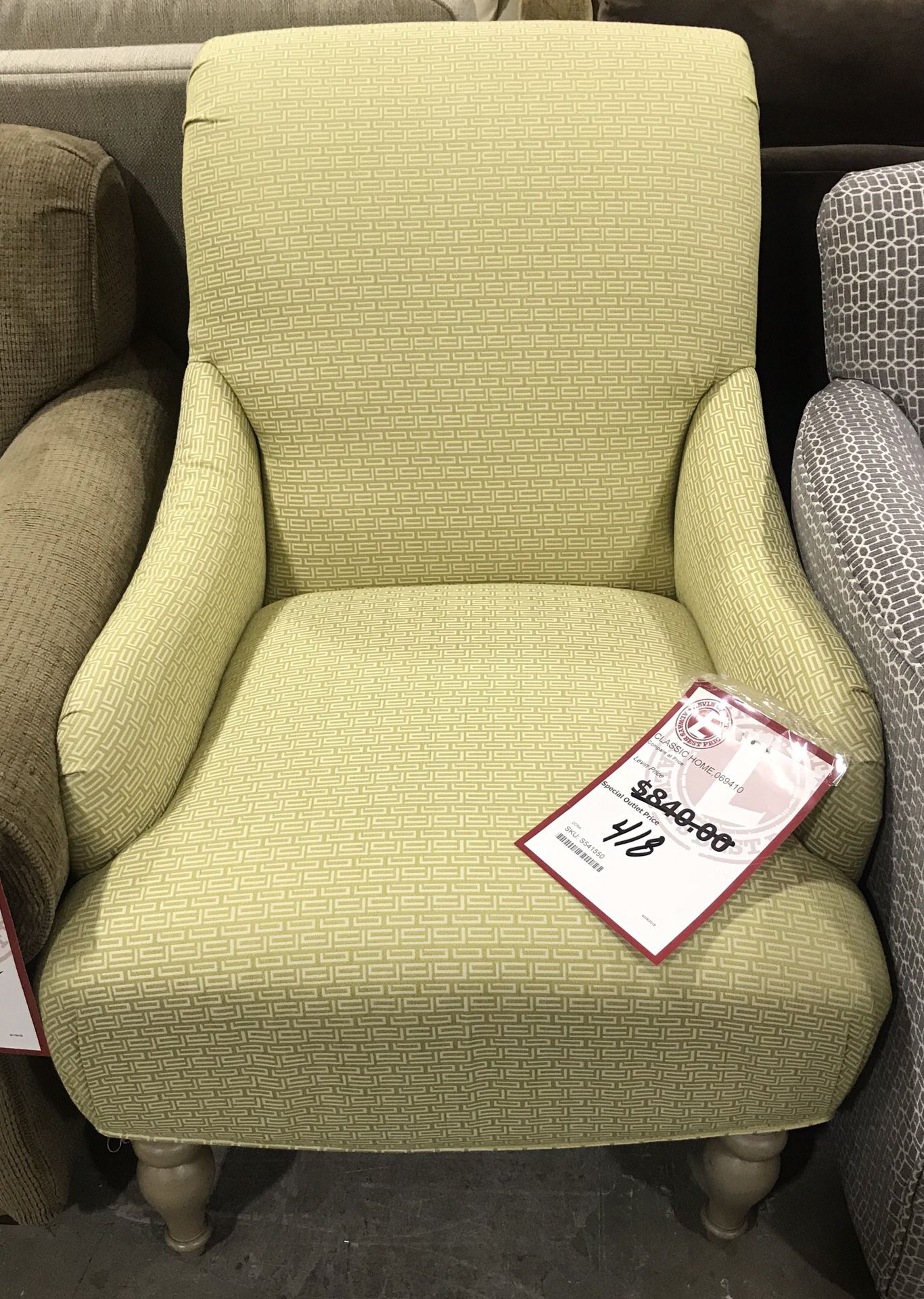 Classic Home chair, original price $840.00, reduced today clearance down to $248