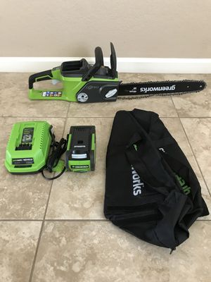 Greenworks Digipro 16 in. 40-Volt Brushless Lithium-Ion Cordless Chainsaw - 4.0 Ah Battery and Charger Included for Sale in Phoenix, AZ