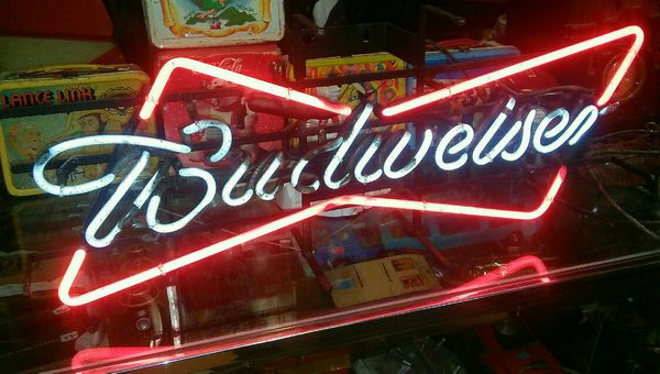 Budweiser beer neon bow tie sign for Sale in Kansas City, MO - OfferUp