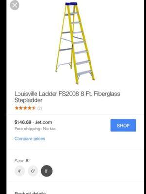 2 Louisville ladders 8 ft Fiberglas for Sale in Glen Burnie, MD