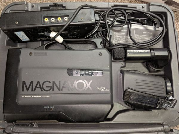 Magnavox VHS camcorder, case and accessories!! EUC!! for Sale in  Greenville, NC - OfferUp
