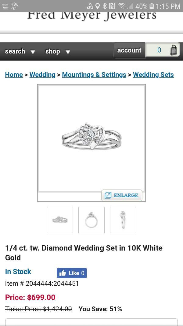 Heart Wedding Ring Set Jewelry Accessories In Covington Wa