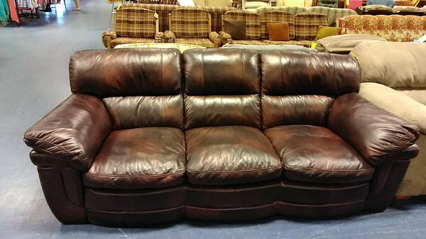 Brown leather look sofa for Sale in Palmyra, PA - OfferUp