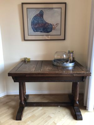 Vintage wood dining table/desk for Sale in Arlington, VA