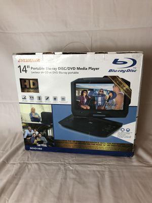 """SYLVANIA 14"""" HD Portable Blu-ray Disc/DVD Media Player *NEW* SDVD1484 - Swivel Screen for Sale in La Porte, TX"""