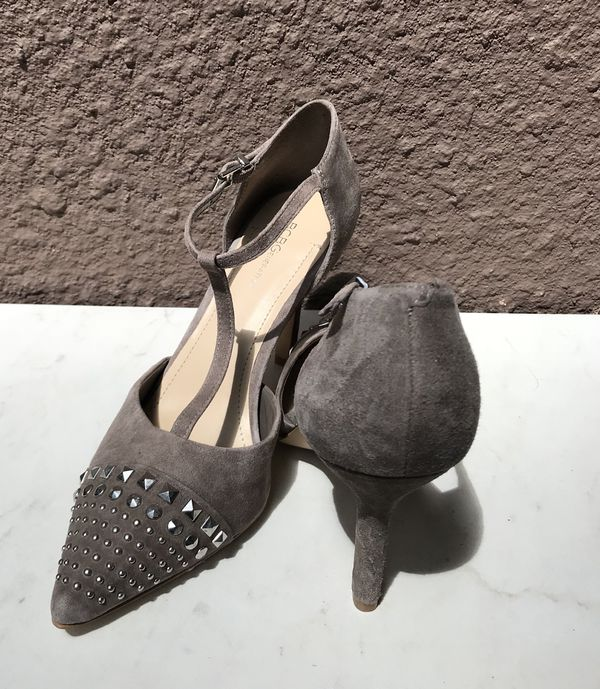 8191cab7764 BCBG Silver Studded Suede Heels BRAND NEW Size 9 for Sale in Raleigh ...