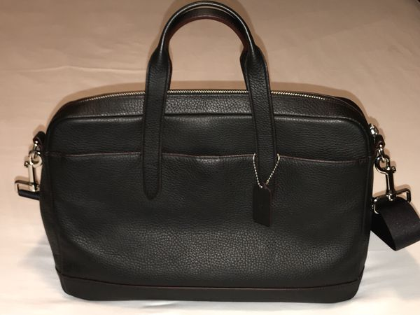 60c719e508832 Coach Men s Hamilton Briefcase F11319 Black Leather Laptop Bag for ...