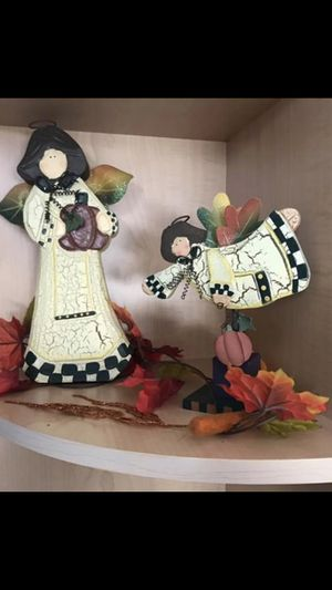 beautiful wooden thanksgiving angels😇great for your table decor!!🦃🍂🍁firm price for Sale in Orlando, FL