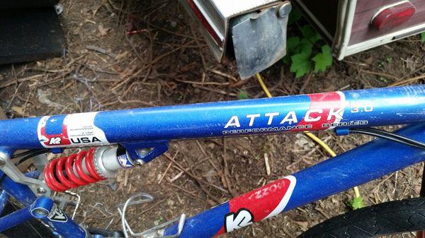 K2 Attack 3 0 Full Suspension Mountain Bike For Sale In Everett Wa
