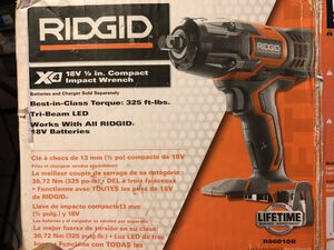Rigid 18v 1/2in compact impact wrench (tool only) for Sale in Summit, IL
