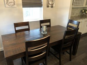 Pier One Parsons Table w/ 6 chairs for Sale in Clarksburg, MD