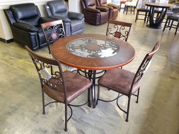 Brown Wooden New Coster Dining Room Table With 4 Chairs Jacksonville FL