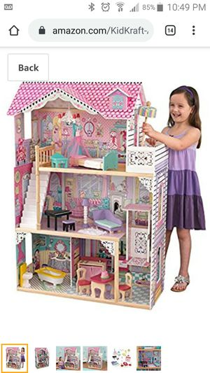 Photo New in box Kidkraft Annabelle wooden Dollhouse with furniture