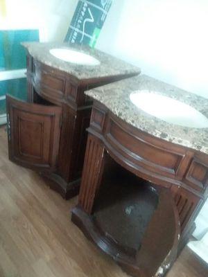 Two nice Vanity whit top for Sale in Gainesville, VA