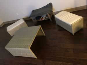 Outdoor furniture with soft top seats and glass table for Sale in Washington, DC