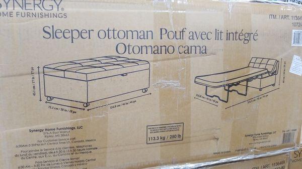 Elegant Synergy Home Sleeper Ottoman