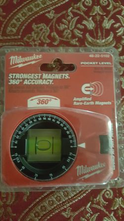 Milwaukee Strongest Magnets 360 accuracy pocket level Thumbnail
