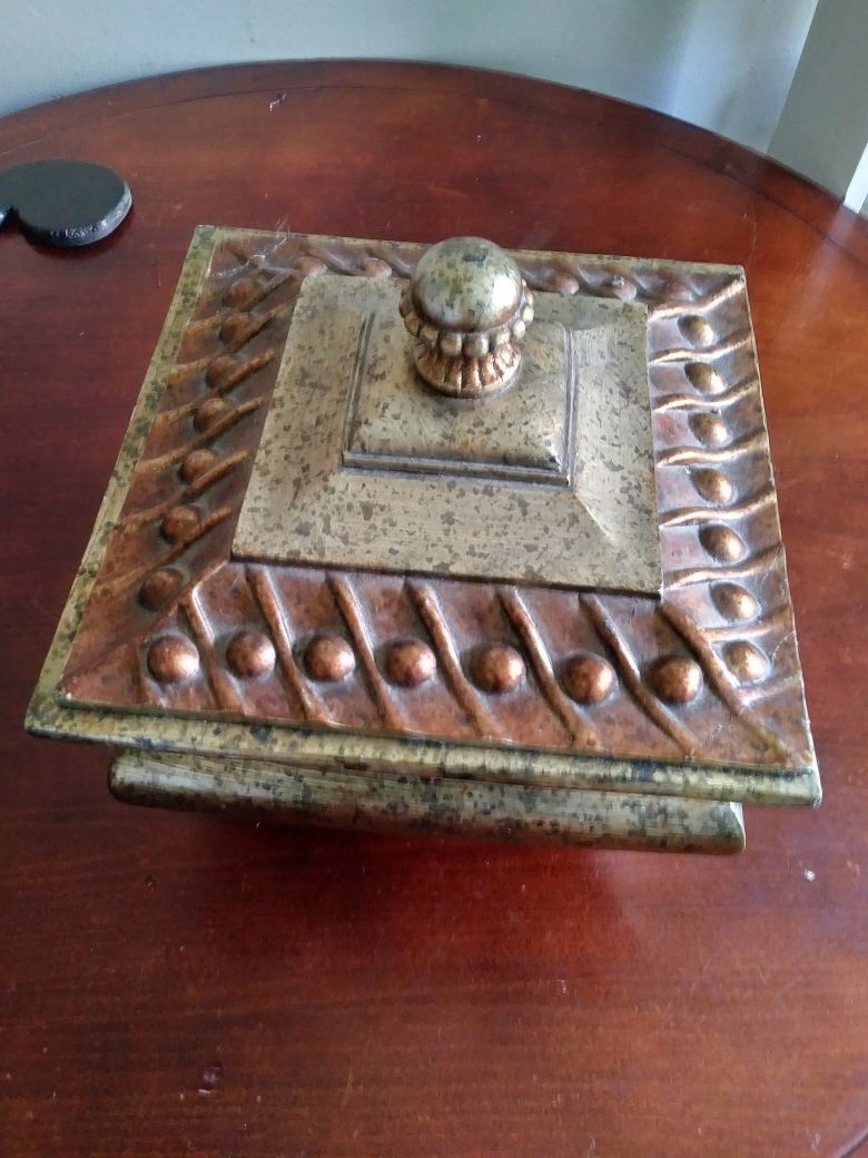 Decorative Wooden Hand painted box with lid