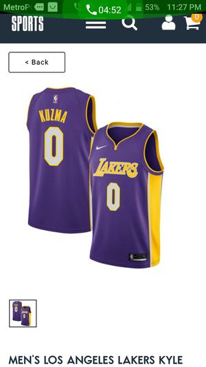 eb82a67062f6 Kyle kuzma Lakers jersey size XL for Sale in Richardson