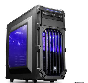 CYBERTRONPC COMPUTER DESKTOP CASE WITH 2 RED LIGHT FANS- CASE ONLY for Sale in Manassas, VA