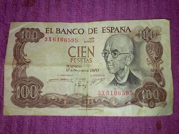 Bank Of Spain 100 Pesetas Bill 5 Dollars Collectibles In Bronx Ny Offerup