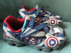 Stride Rite Boys X-celeRacers Captain America shoes Sneaker Size 2.5 for Sale in Alexandria, VA