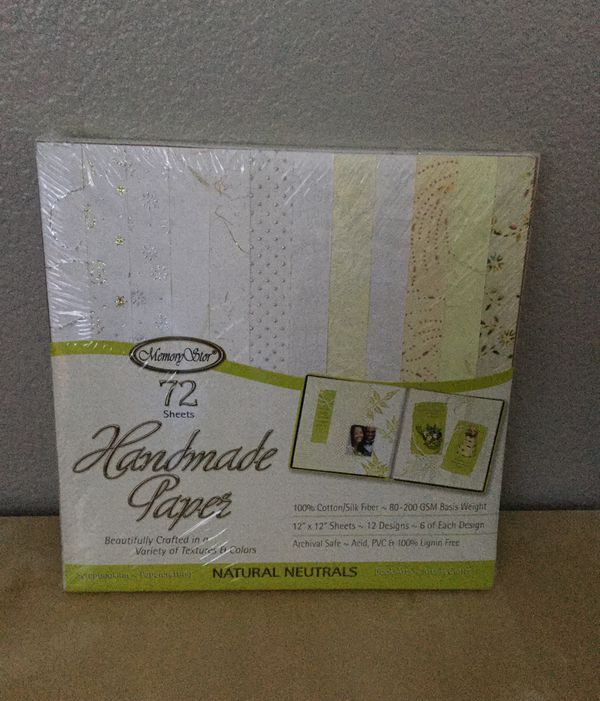 Memory Stor Handmade Paper 72 12 By 12 Sheets 12 Designs