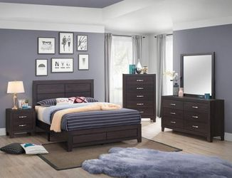 💕💝💞SAME DAY DELIVERY📦🚚🏘          💰💸Finance Available 💸💰                4pc 5pc Queen Bedroom Set 131 Thumbnail