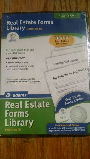Real Estate Forms Library & Contractor's Library 2.75 for Windows for Sale in Denver, CO