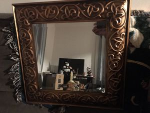 24in bronze wall mirror for Sale in Winter Hill, MA